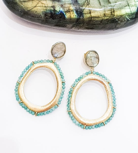 Image of Amazonite and Labradorite Earrings
