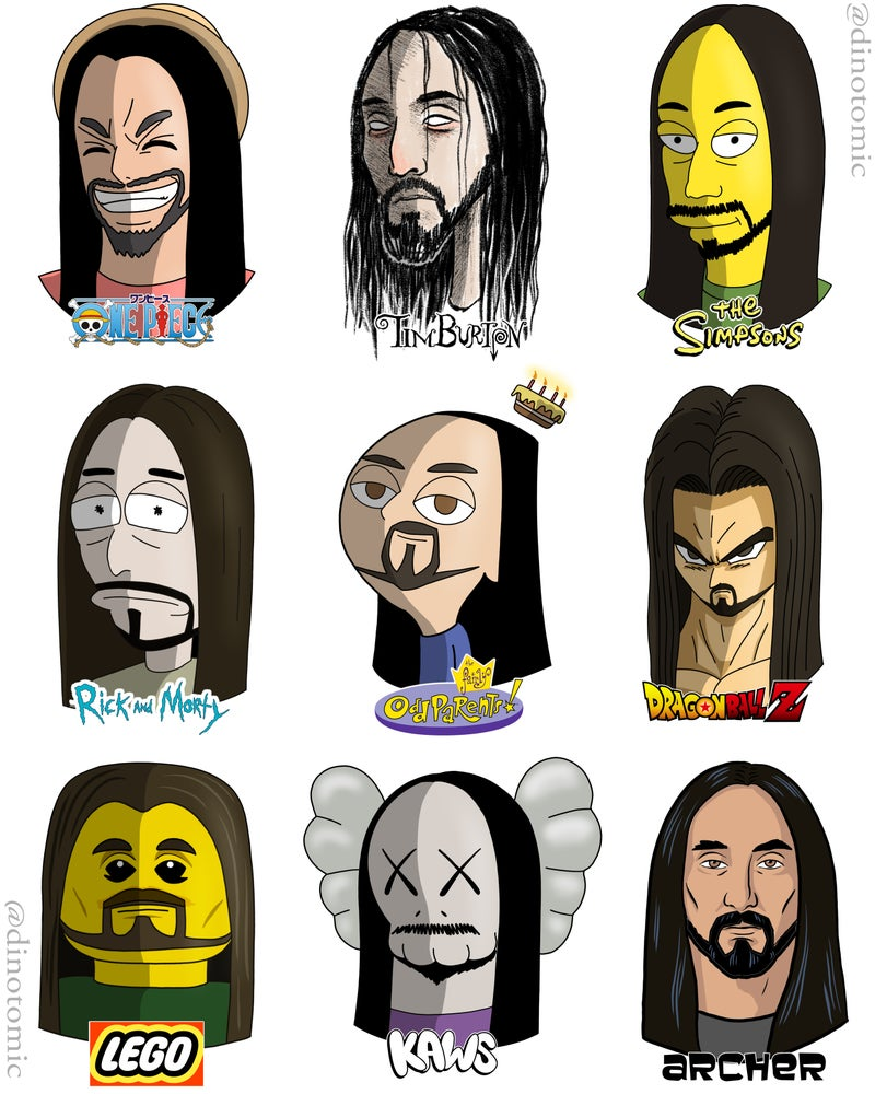 Image of #196 Steve Aoki in many styles