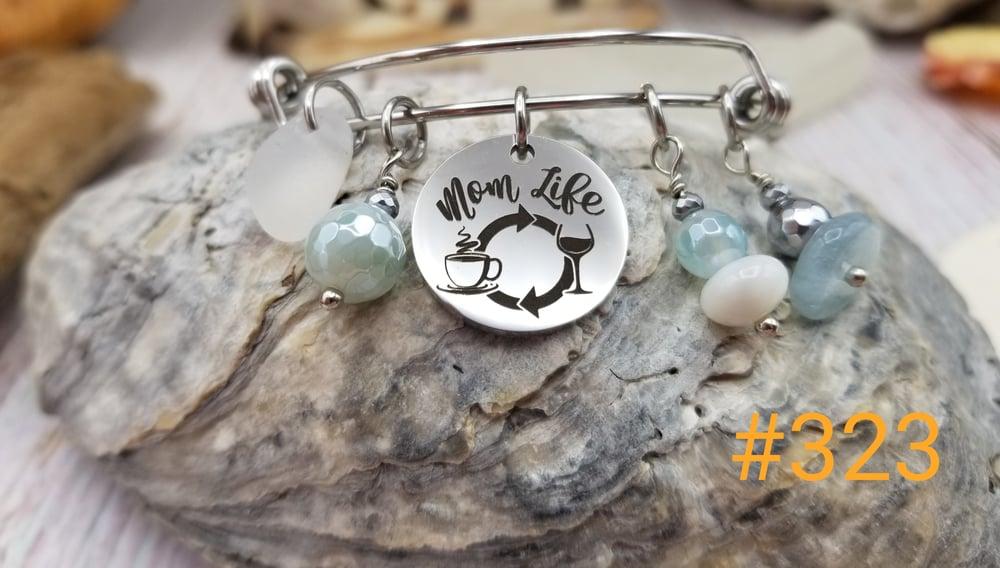 Image of Sea Glass- Bangle- Mom Life Charm- #323