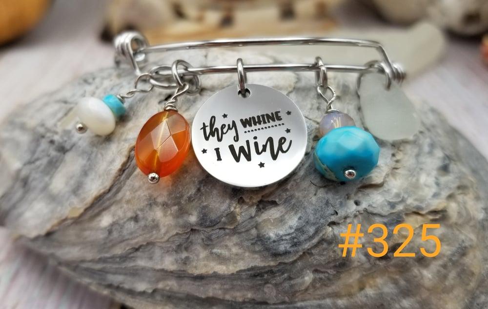 Image of Sea Glass- Bangle- I Wine- Amber- #325
