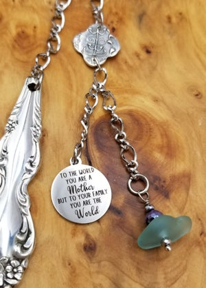 Image of Sea Glass- Bookmark- Fine Silver- Handmade Pendant- #326