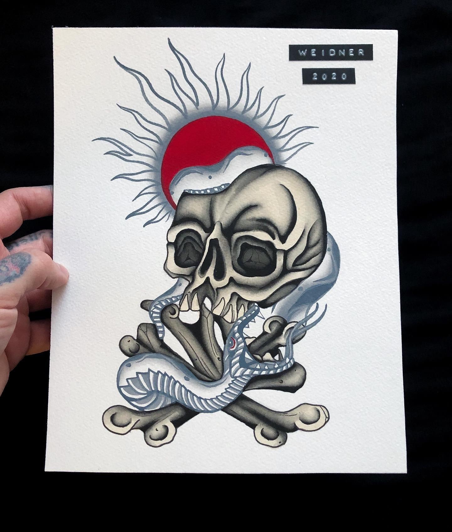 Image of Skull & Snake