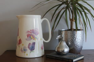 Image of Sweet Pea Fine Bone China 4 Pint Farmhouse Jug