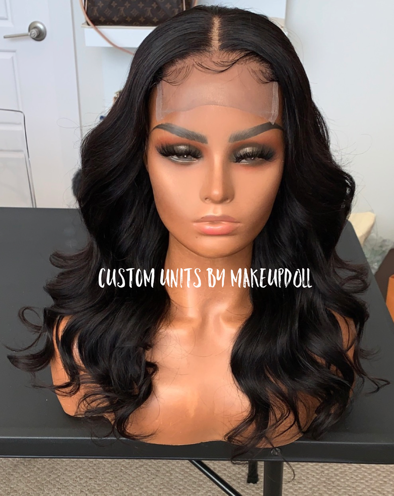 "Image of Brazilian Body Wave 18"" Lace Closure Wig"