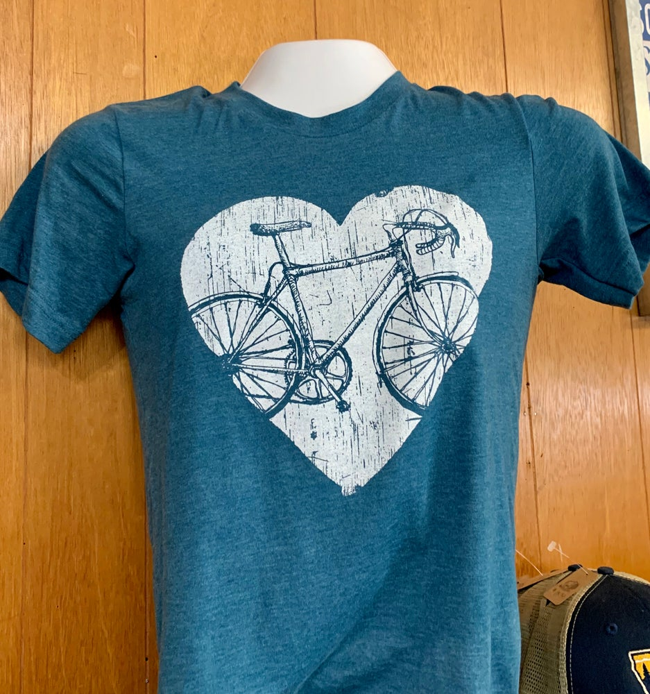 Image of Vintage Roadbike Heart T-Shirt