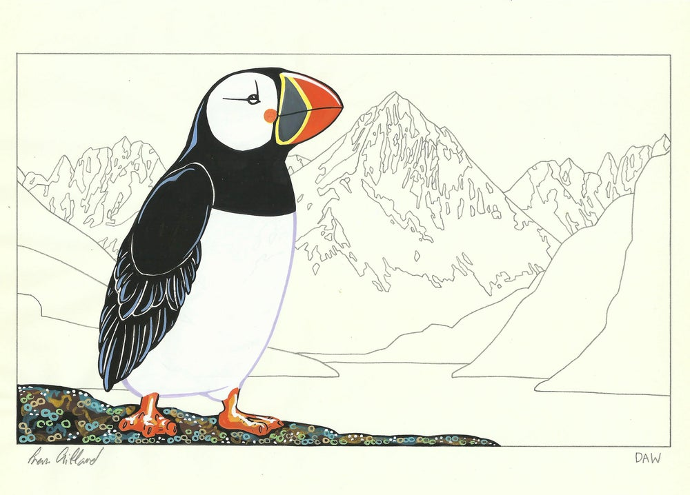 Image of Atlantic Puffin and Ariel