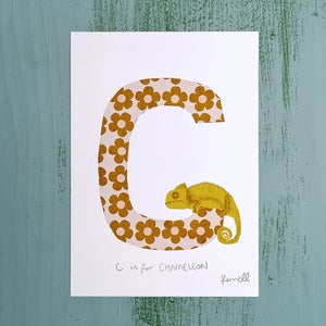 Alphabet Initial A5 Giclee Print (A-E)