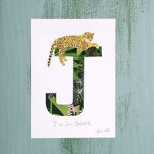 Alphabet Initial A5 Giclee Print (F-J)