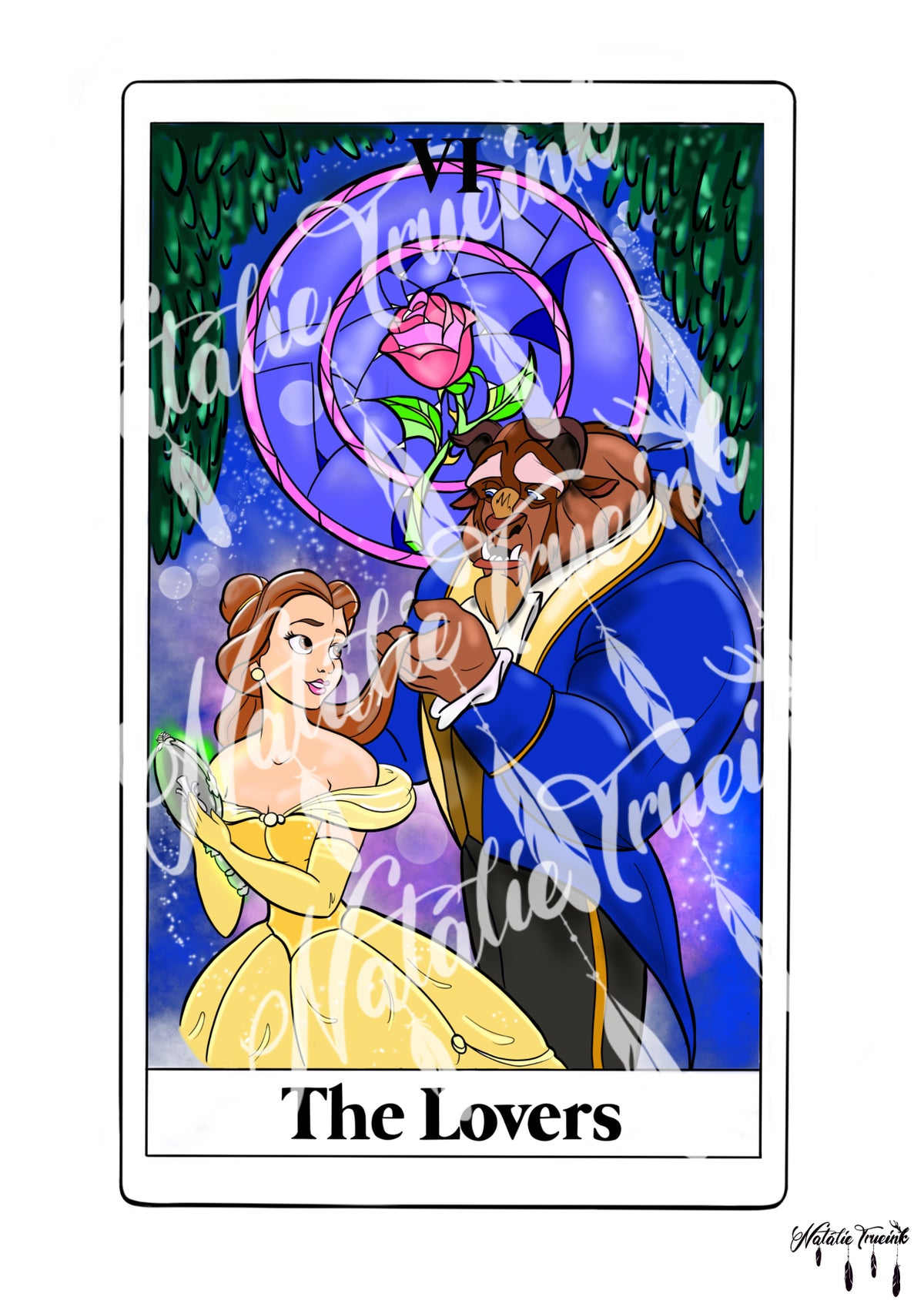 The Lovers - Beauty and the Beast Tarot print
