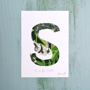 Alphabet Initial A5 Giclee Print (P-T)