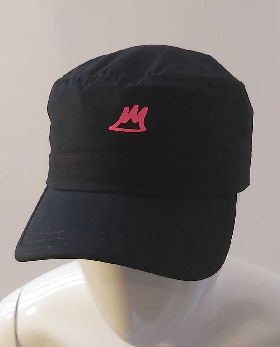 Image of Black Army Cap (Pink)
