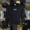 Sharks Circle Black Embroidered Sweatshirt