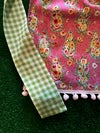Adult Half Apron, Bright Pink Paisley and Floral