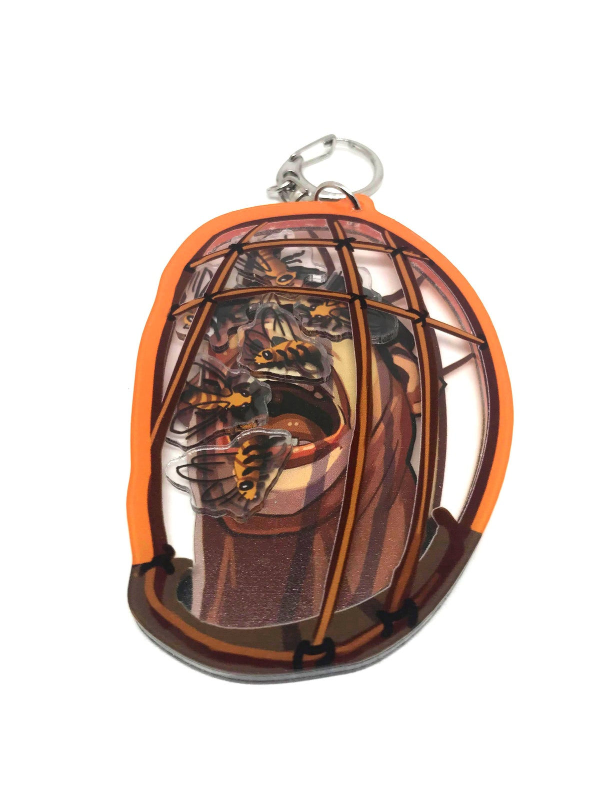 """Image of NOT THE BEES!! Nicolas Cage 3.5"""" Acrylic Shaker Charm"""