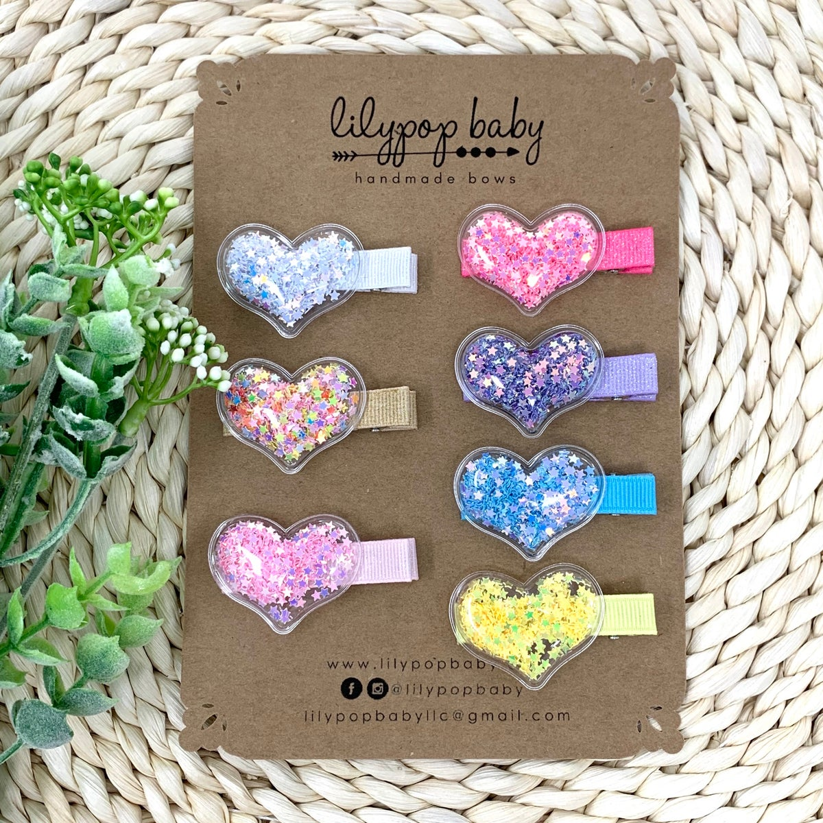 Image of Heart Bubble Shaker Alligator Clips (sold separately)