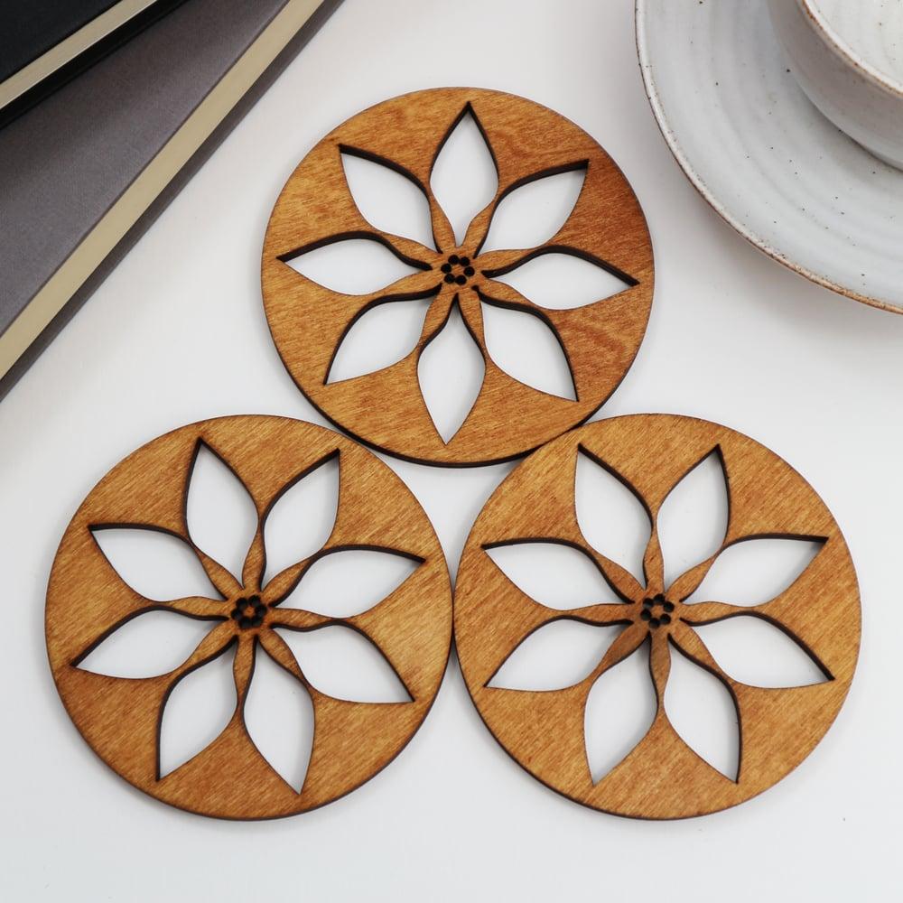 Image of Poinsettia Coasters