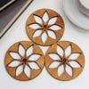 Poinsettia Coasters