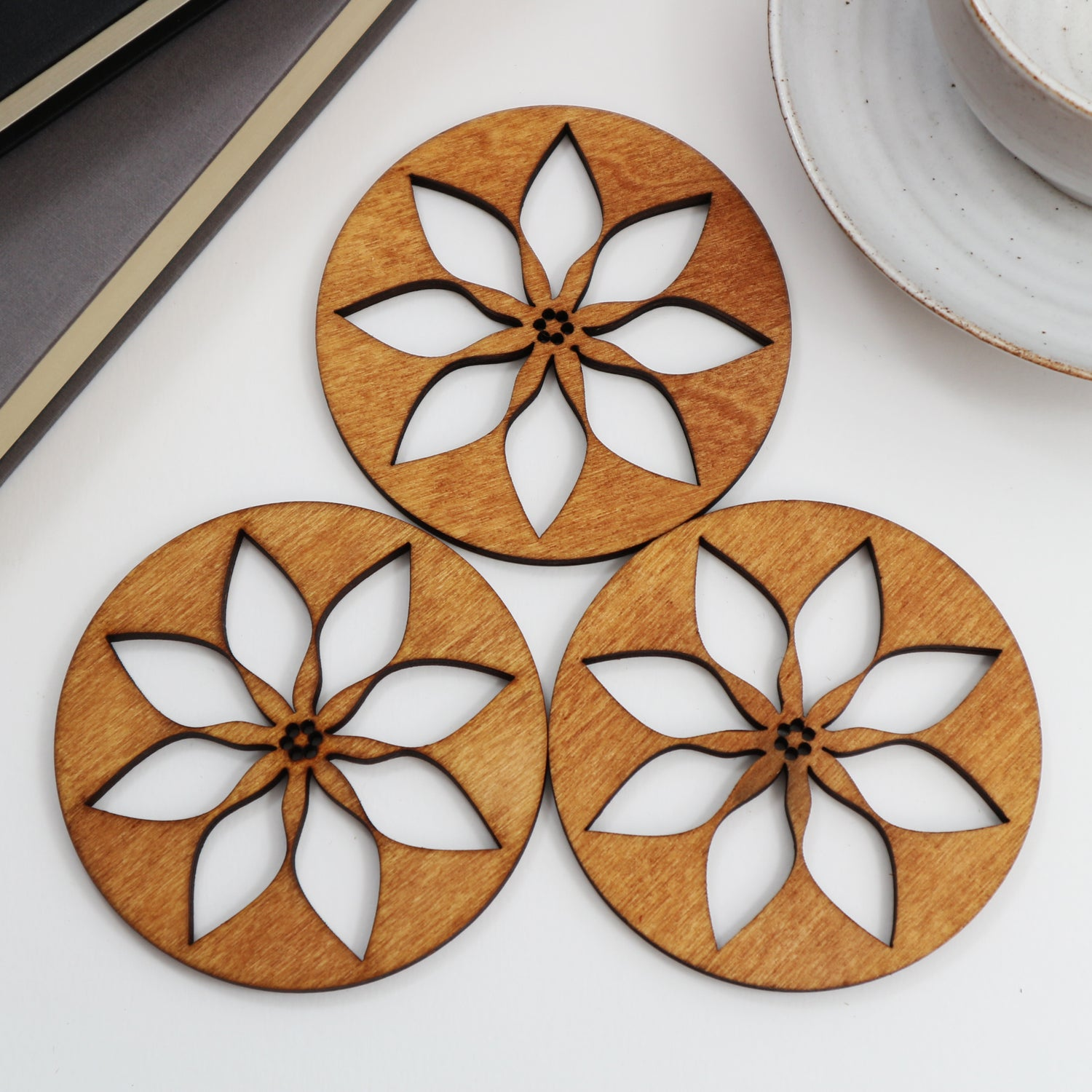 Image of Poinsettia Coasters