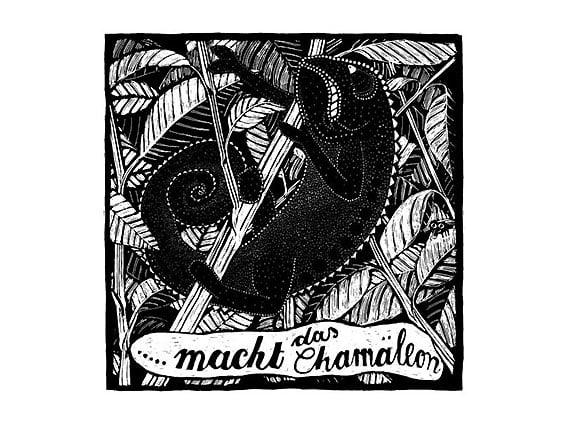 Image of SIEBDRUCK Chamäleon