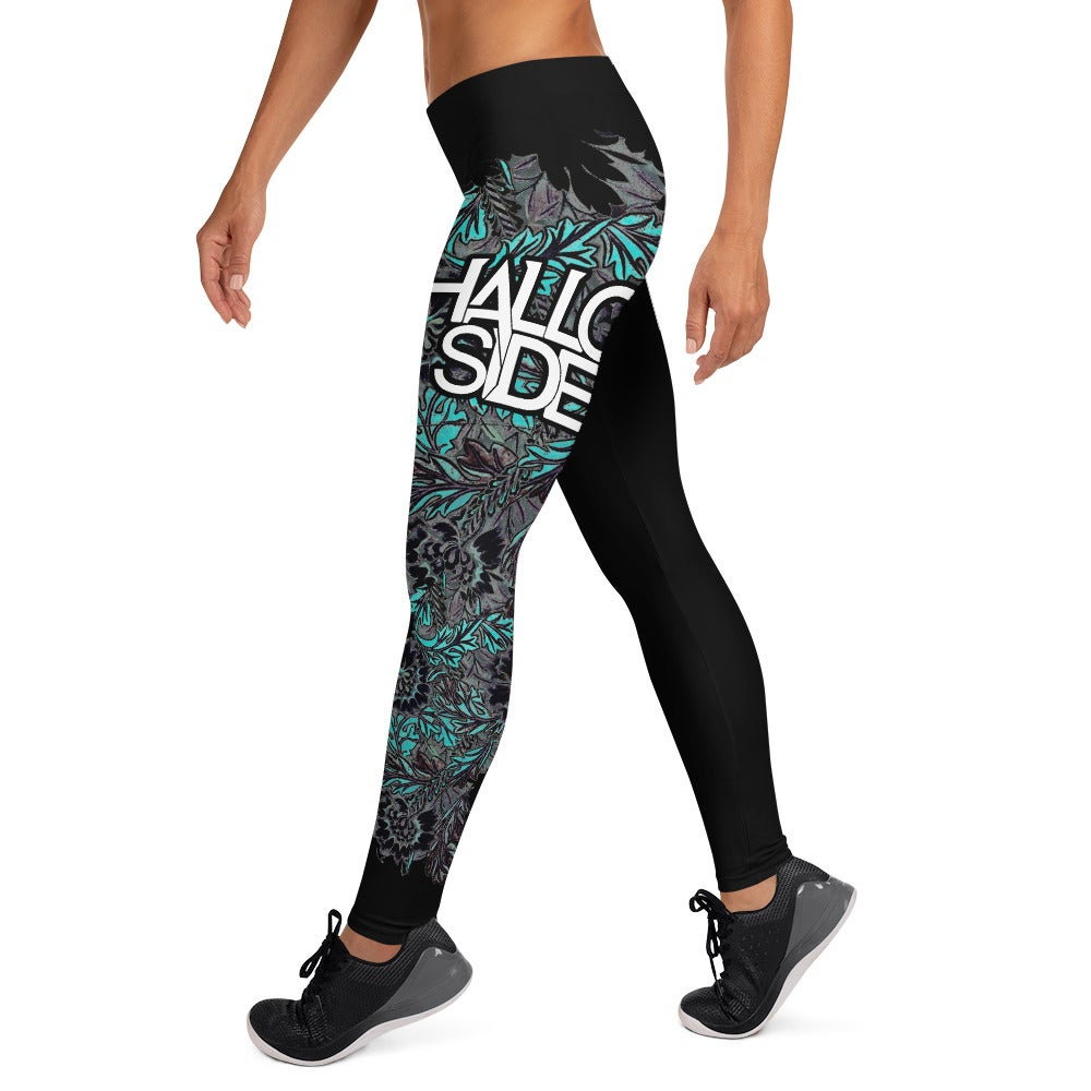 Shallow Side Flower Leggings