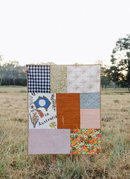 Image of Falling Autumn Leaves Baby Quilt