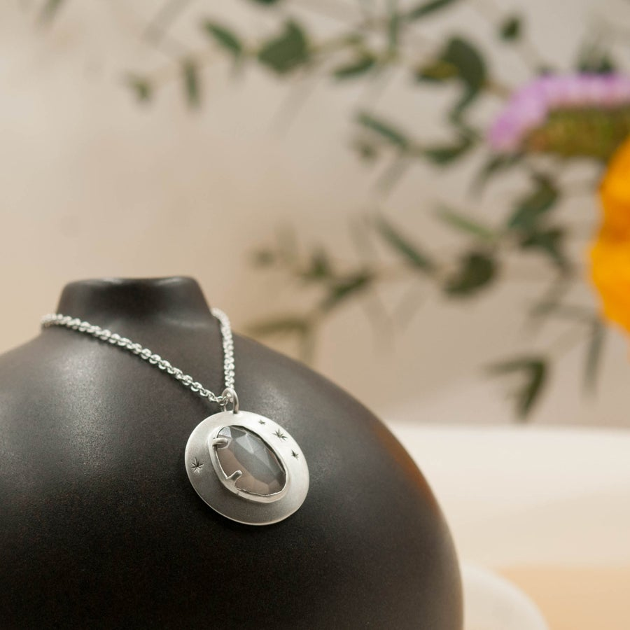 Image of Grey moonstone pendant #2
