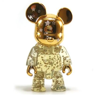 "Image of 2.5"" Qee Gold Shining Star Bear"