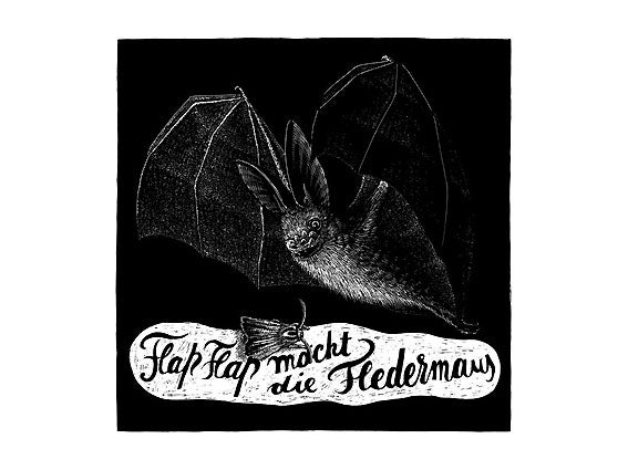 Image of SIEBDRUCK Fledermaus