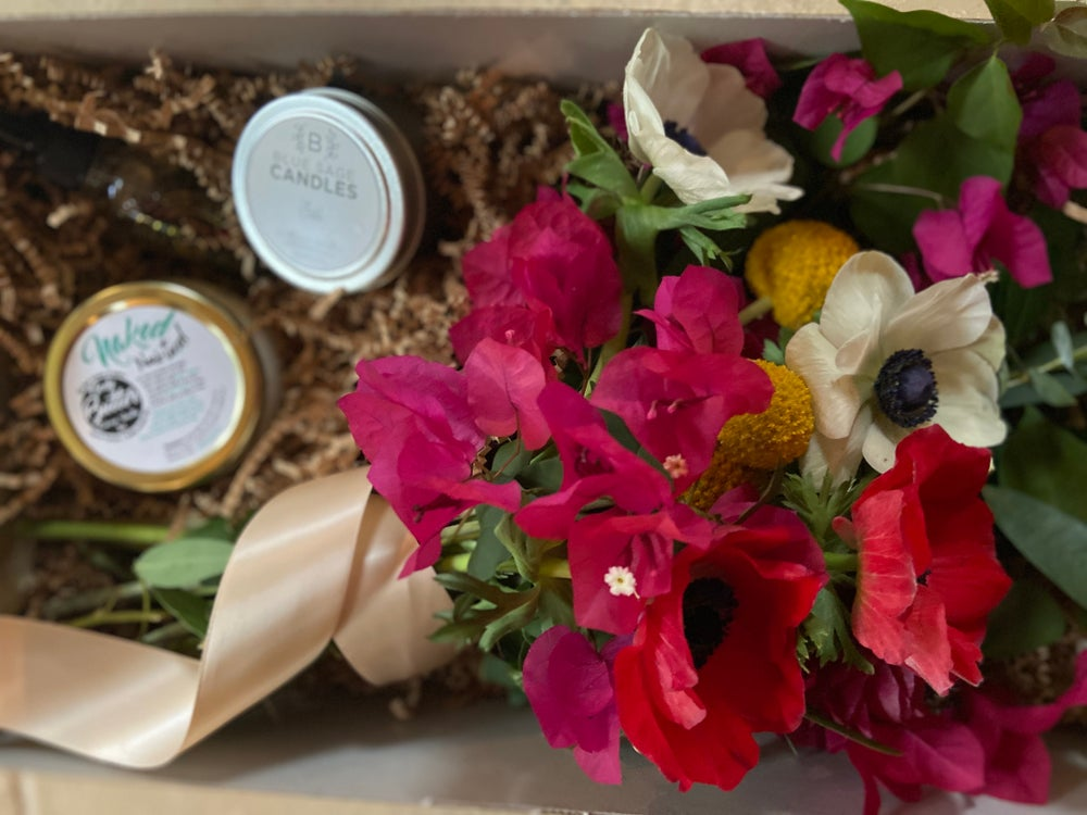 Mother's Day Floral Gift Set- Relax & Unwind