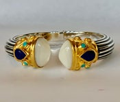 """Image of Moonstone 6/8""""in length with lapis and turquoise accents"""