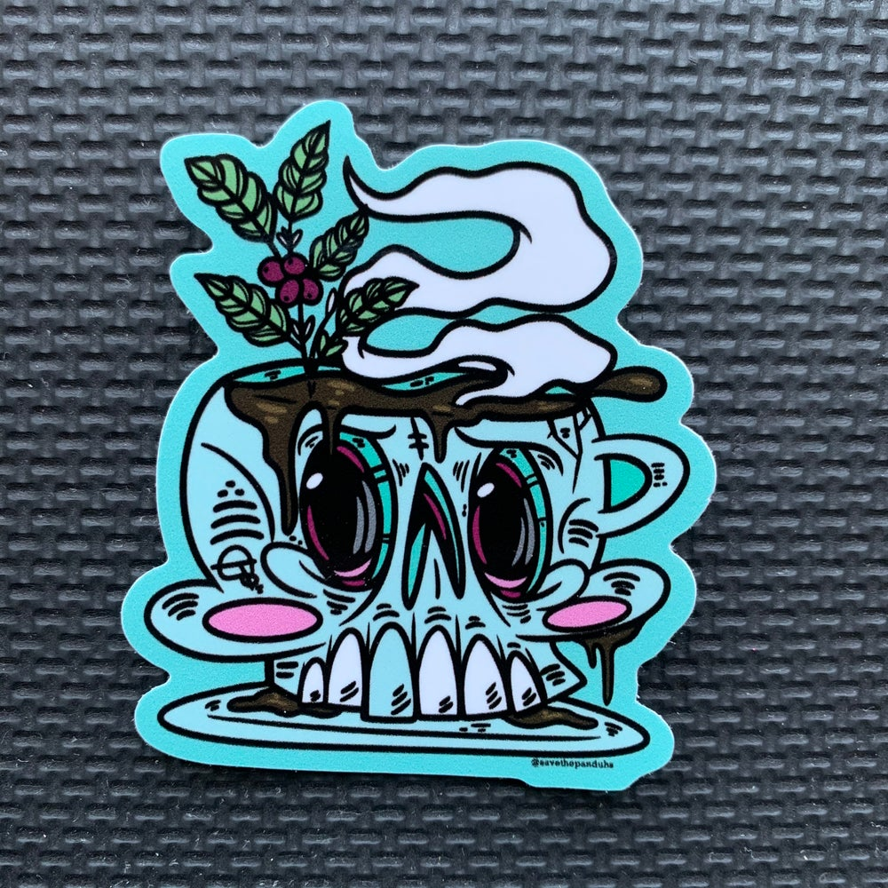 Image of Coffee Skull Sticker
