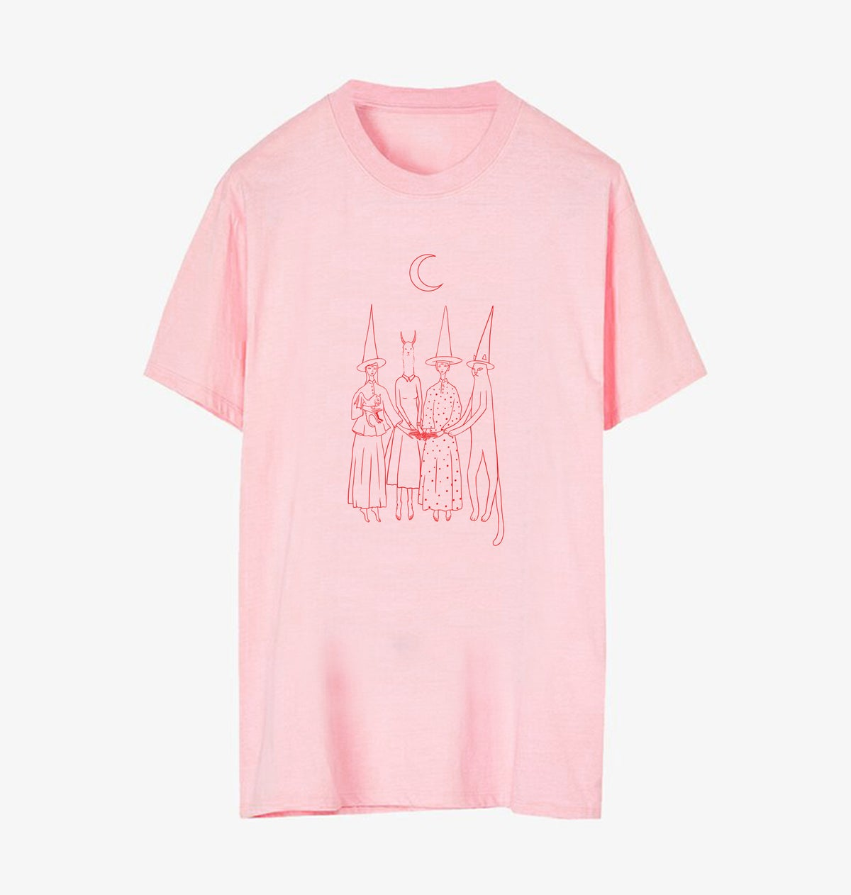Image of Witches t-shirt Pink and Red