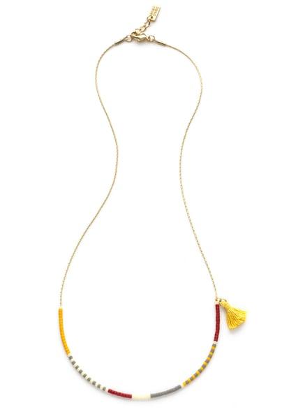Image of Amano Saffron Japanese Seed Bead Necklace