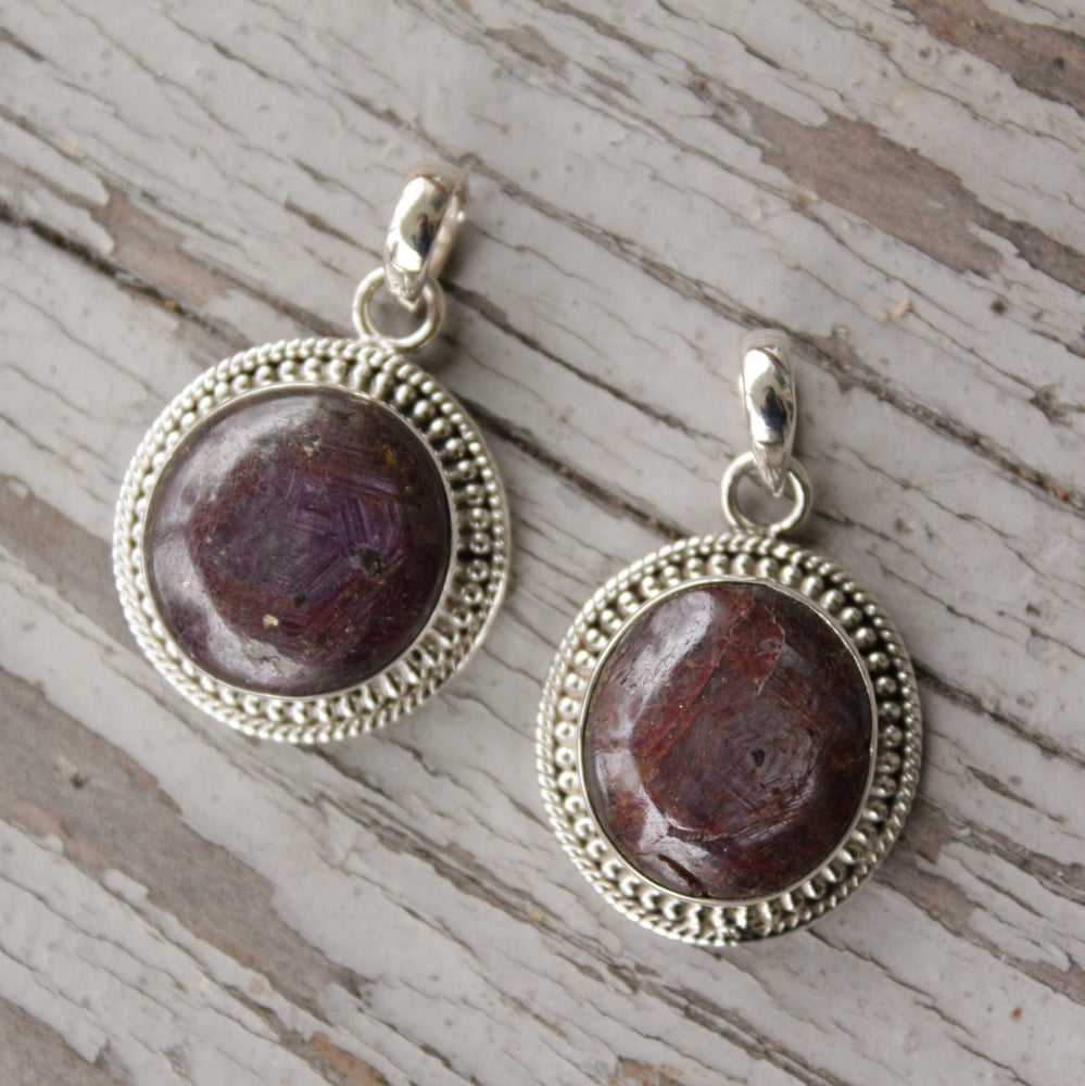 Image of Corundum Pendants in Sterling Silver