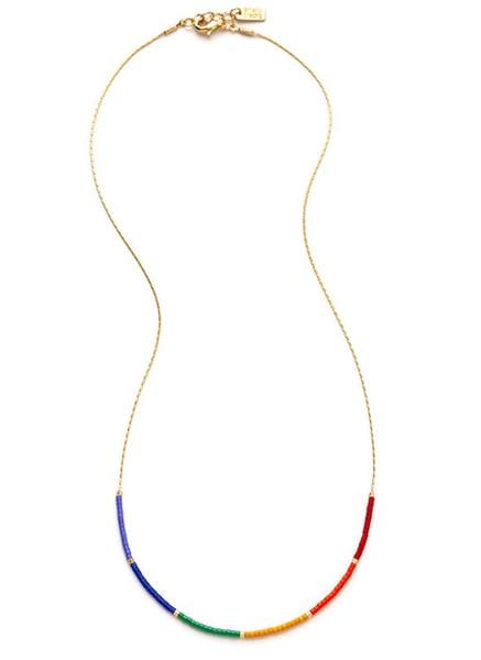 Image of Amano Rainbow Japanese Seed Bead Necklace
