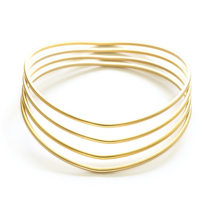 Image of Amano Gold Wave Bangles