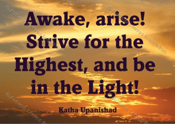 Image of Q3 Katha Upanishad quote