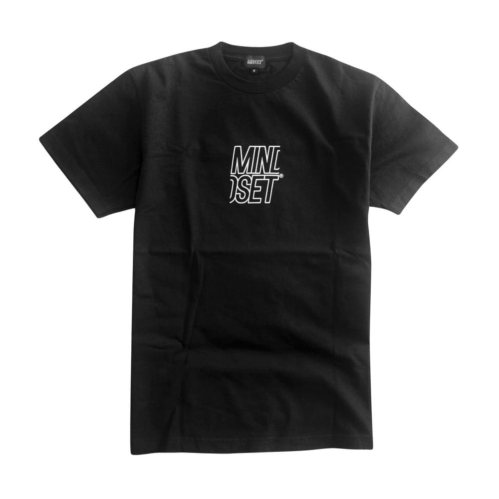 Image of Stacked Logo Tee (Black)