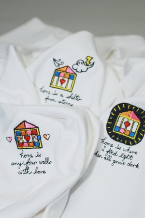"Image of ""Home is"" Series Embroidery Tee"