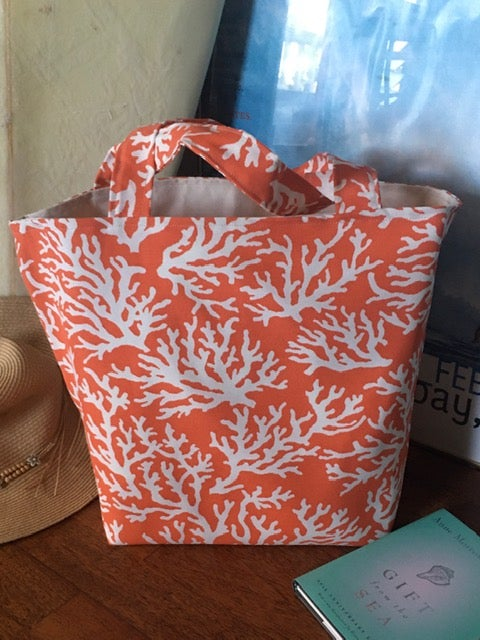 Mandarin Splendor Coral Tote