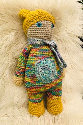 Retro Nanna Crochted Teddy Doll