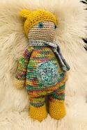Retro Nanna Crochted Teddy Doll