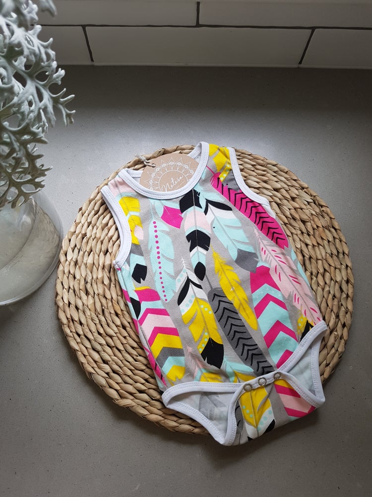 Image of Boho feather Onesie