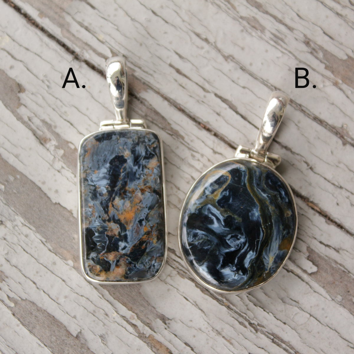 Image of Petra Pendants - Pietersite in Sterling