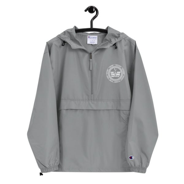 Image of THE UNE Embroidered Champion Packable Jacket
