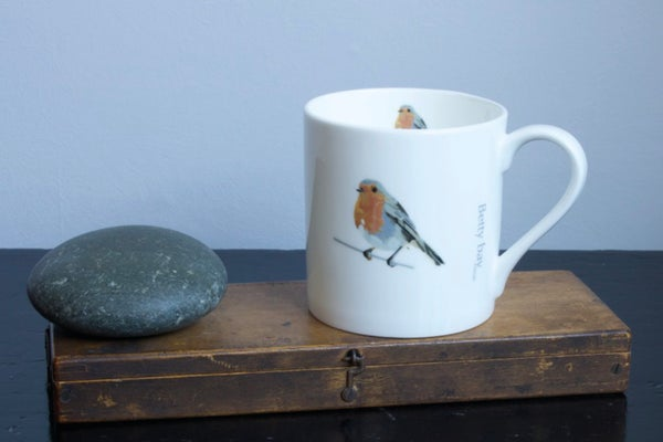 Image of Robin English Fine Bone China Mug