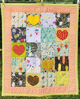 Bright Heart I Spy Quilt