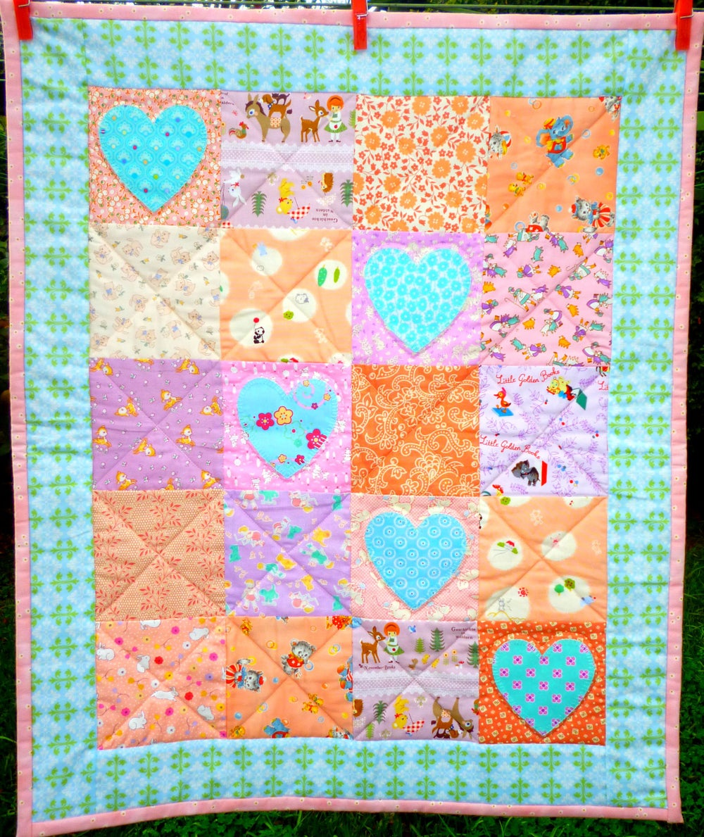 Image of Blue Heart Quilt