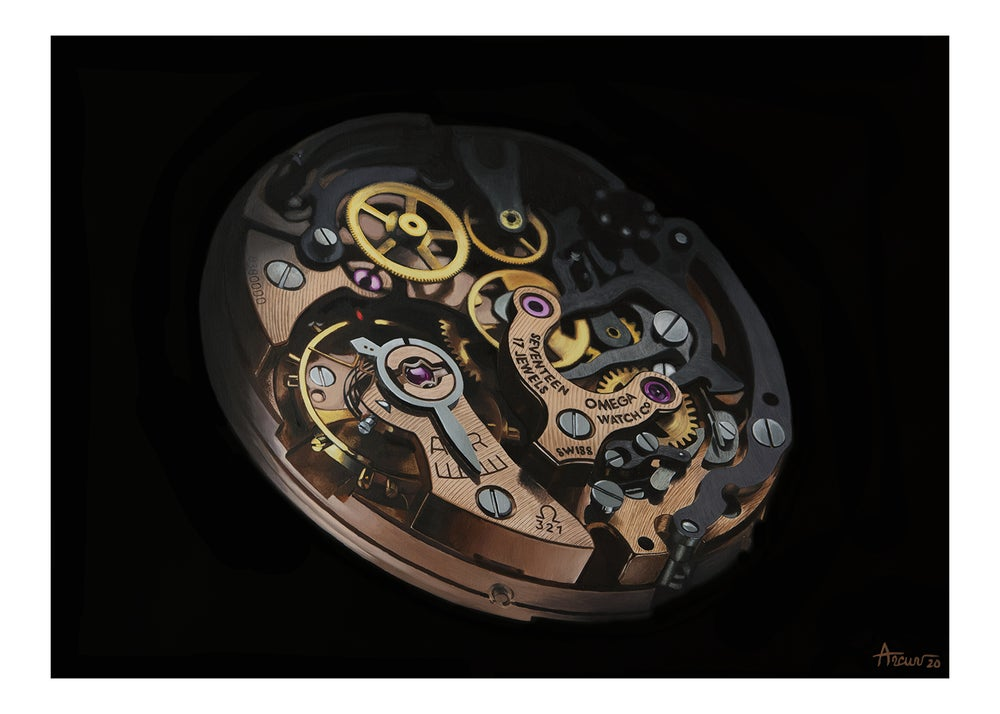Image of Omega Speedmaster Moonwatch Limited Edition Print