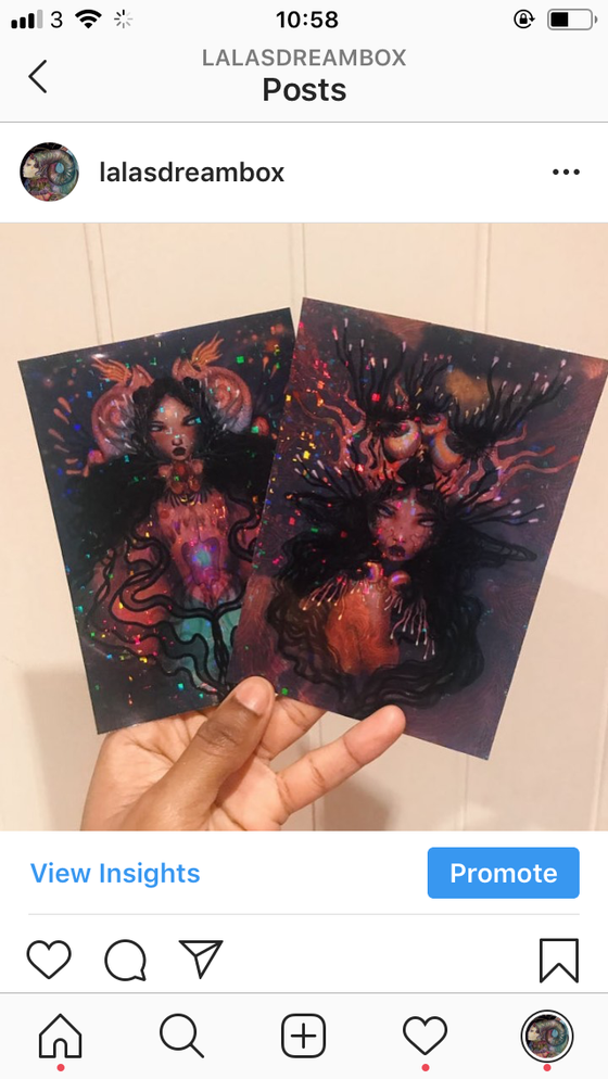 Image of Holographic A6 sticker/prints